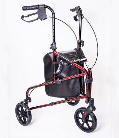 MOBB Healthcare 3-Wheeled Folding Portable Rollators - Senior.com Rollators