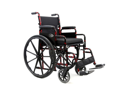 Karman Healthcare Red Streak Lightweight Wheelchair - Senior.com Wheelchairs