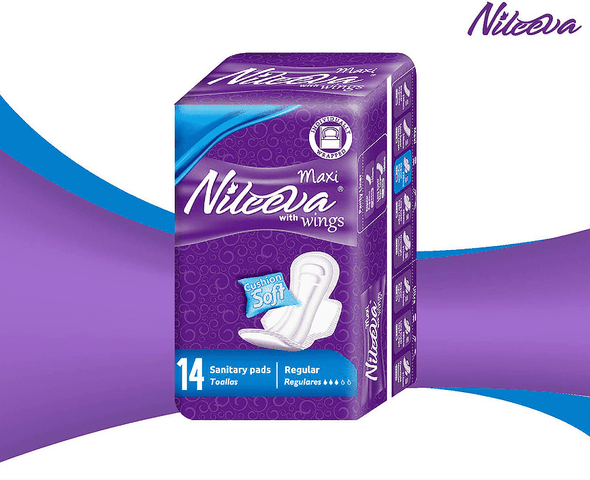 Nileeva Care Individually Wrapped Maxi Sanitary Napkins with Wings - Senior.com Incontinence