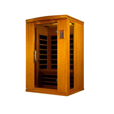 LifeSauna Tru Heat 2 Person Carbon FAR Infrared Sauna - MP3 & LED Panel - Senior.com Saunas