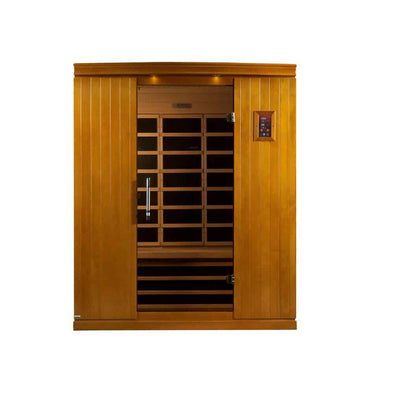 LifeSauna Tru Heat 3-Person Far Infrared Sauna with 6 Carbon Tech Heaters - MP3, Light and Digital Controls - Senior.com Saunas
