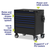 Montezuma Large 36 X 24 Inch Tool Box Rolling Tool Cabinet With Multiple Power Outlets & Drawers - Senior.com Tool Cabinets