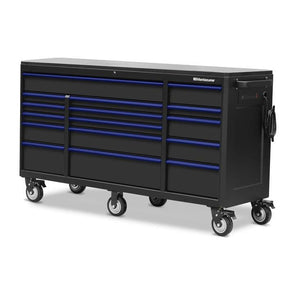 Montezuma Large 72 X 24 Inch Tool Box Rolling Tool Cabinet With Multiple Power Outlets & Drawers - Senior.com Tool Cabinets