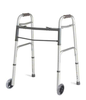 MOBB Healthcare Aluminum Lightweight Folding Push Button Walker MHRFW