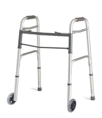 MOBB Healthcare Aluminum Lightweight Folding Push Button Walker - Senior.com walkers