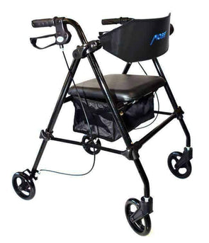 MOBB Healthcare Steel Rollator with 6 Inch Wheels & Storage Bag