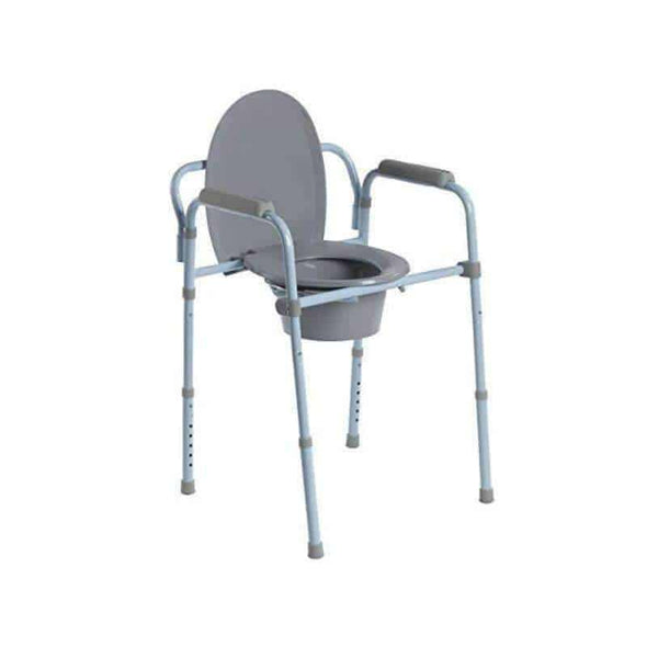 Drive Medical Steel Folding Frame Commode - Senior.com Commodes