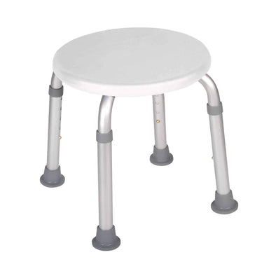 Drive Medical Adjustable Height Bath Stool White - Senior.com Bath Benches & Seats