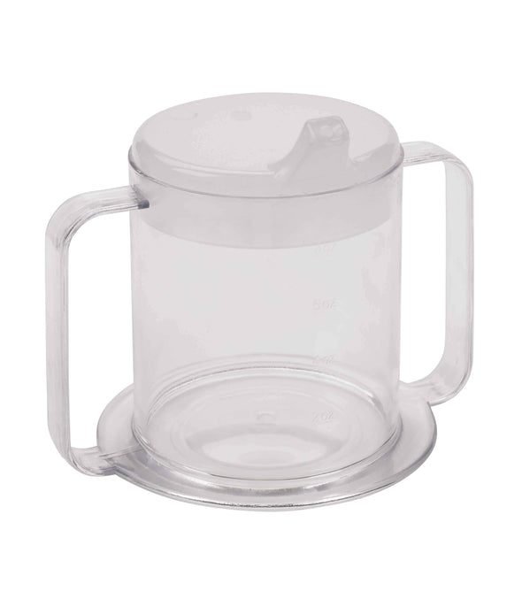 Drive Medical Lifestyle 2-Handle Drinking Cup with Anti-Splash Lid - Senior.com Drinking Cups