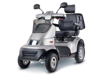 Afikim Afiscooter Breeze S 4-Wheel Bariatric Scooters - Optional Canopy silver