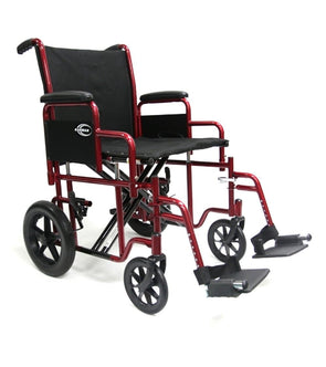 Karman Healthcare Deluxe Bariatric Transport Wheelchair - 450 lbs Cap - Senior.com Transport Chairs