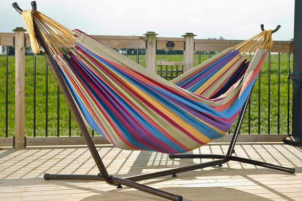 Vivere Double Hammock with Universal Hammock Stand