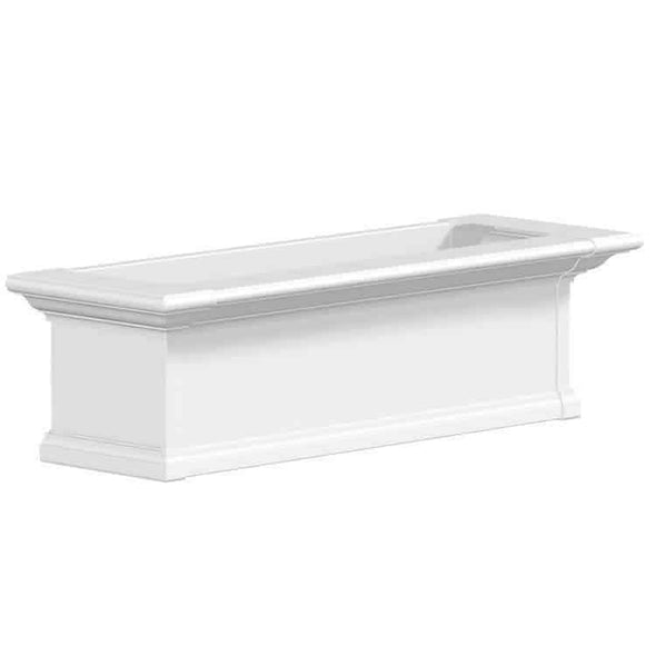 Mayne Yorkshire Window Box Planters - White 3 Foot