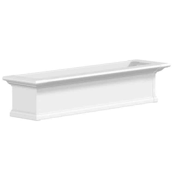 Mayne Yorkshire Window Box Planters - White 4 Foot