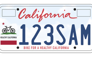 Pre-Order The New California Bike-Themed License Plate & Show Your Love Of Cycling