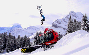 bike crash ski slope snow plow
