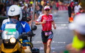 female triathlete running hawaii