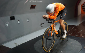 Testing Aerodynamics In The Wind Tunnel With The Rally Cycling Pro Team