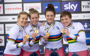 female bike racing team usa gold medal podium