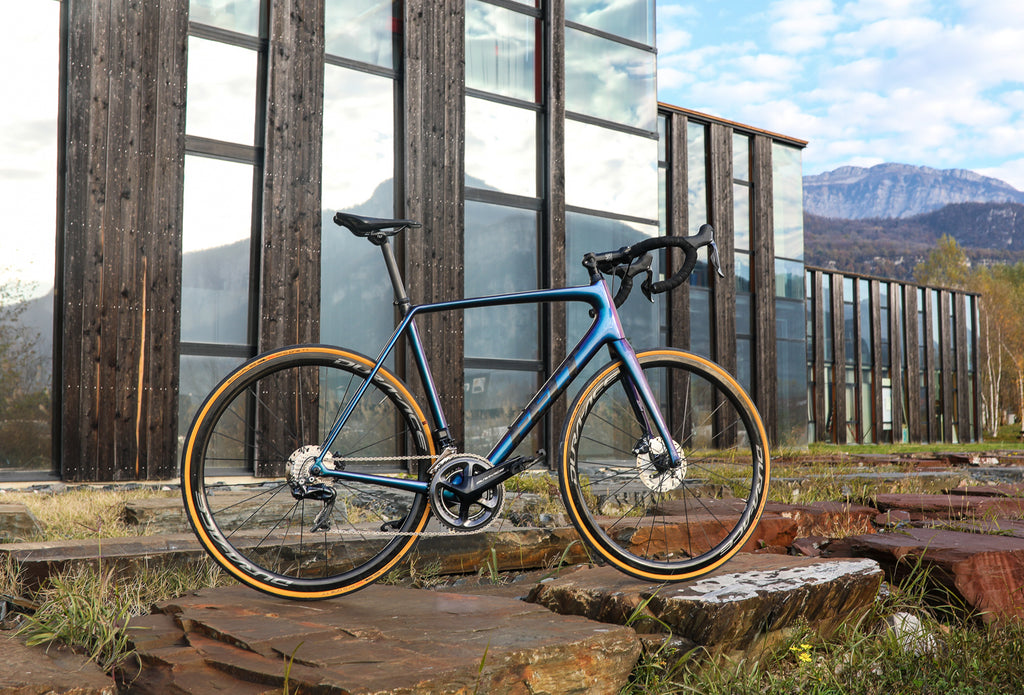 custom road bike blue