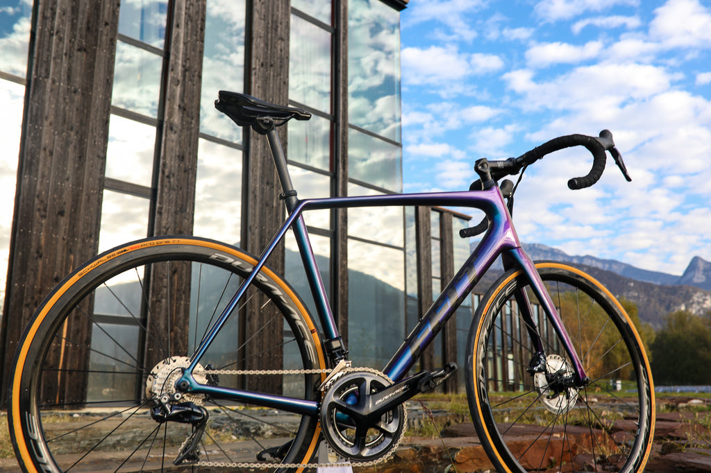 custom blue road bikes