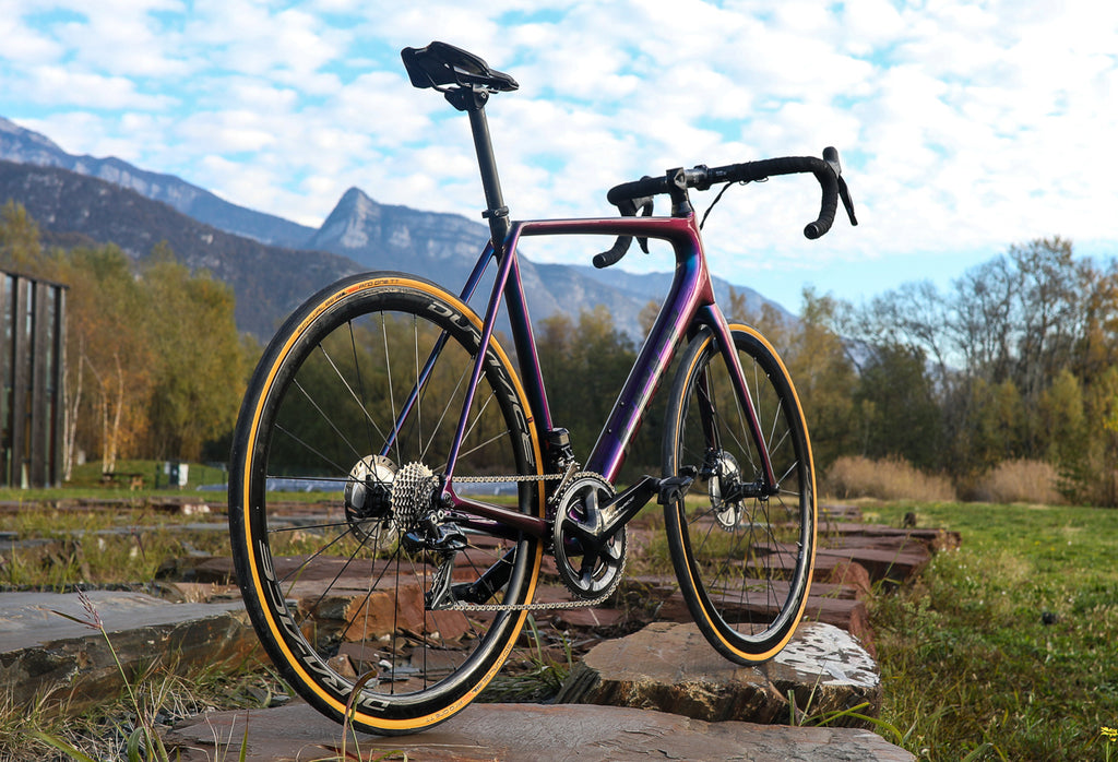 purple road bike