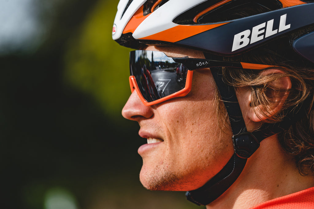 bicycling helmet sunglasses