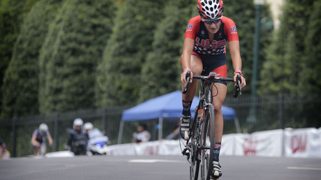 woman bike racer Team USA