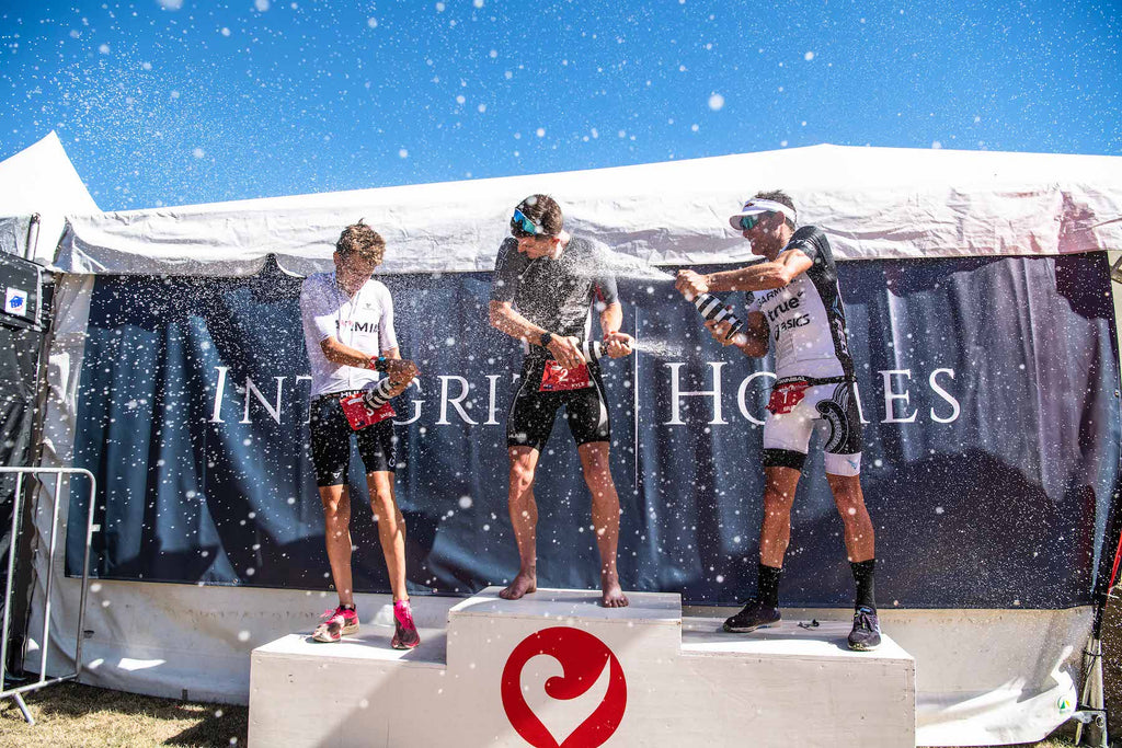 triathlon podium
