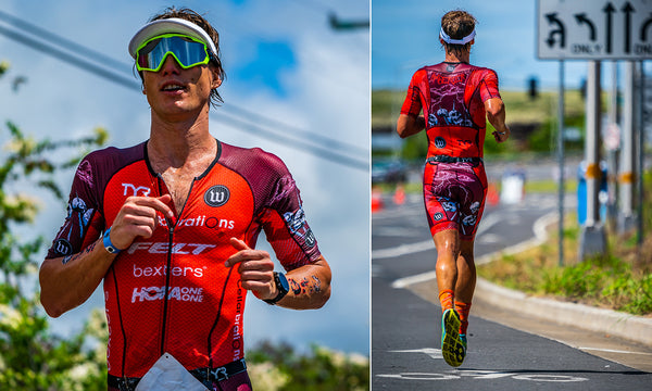 triathlete running ironman kona race