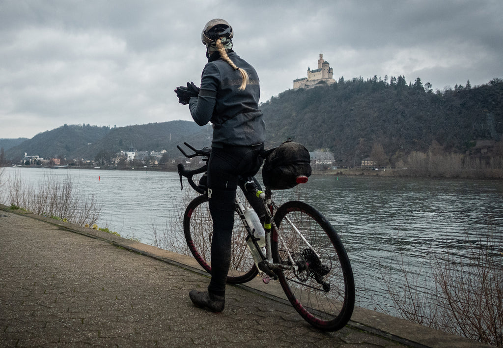 female bike touring