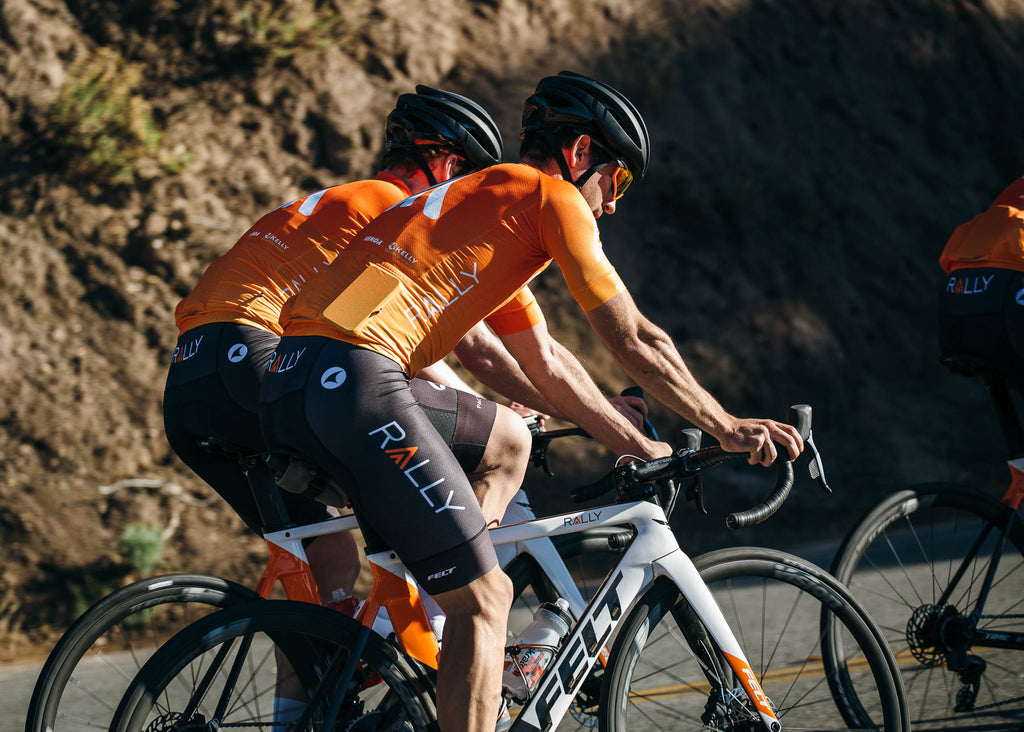 orange cycling jersey