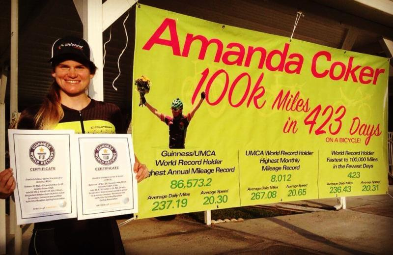 female cyclist guinness world record