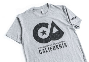 """Designed in CA"" Felt T-Shirt Grey - Men's"