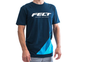 Felt Brand T-Shirt Navy Blue - Men's