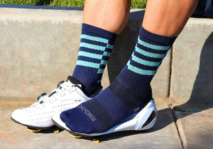 "Felt 6"" Socks - Navy"