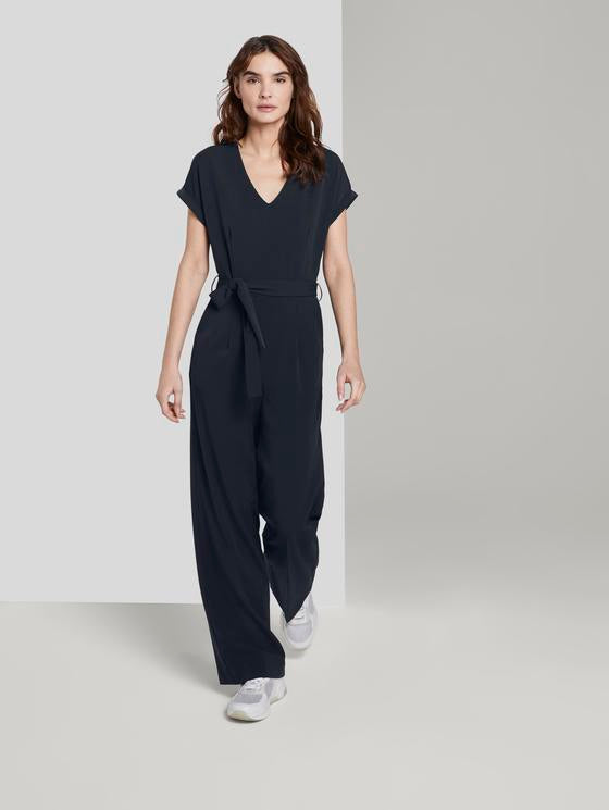 Jumpsuit mit Bindegürtel Tom Tailor