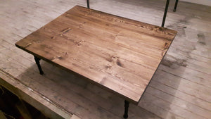 Steel Pipe Coffee Table - Rustic Coffee Table - Steel Pipe