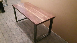 Walnut Coffee Table with Steel Legs