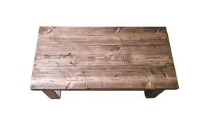Distressed Walnut Coffee Table