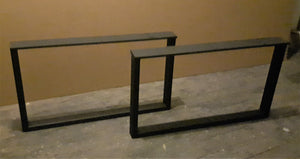 Matte Black Steel Coffee Table Legs