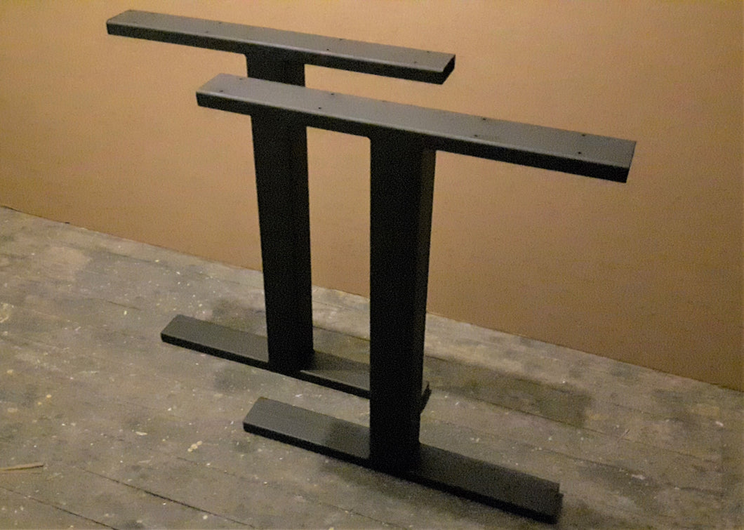 Metal Dining Table Legs - Steel Table Legs - 'T' Style