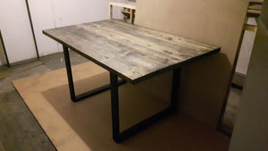 Dining Table on Steel Legs