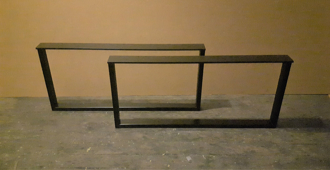 Gloss Black Steel Table Legs