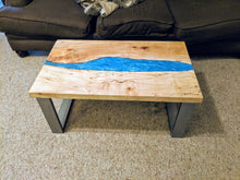 Epoxy River Table - Live Edge Resin Table - River Coffee Table