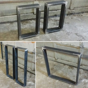 Steel Table Legs - Dining Table Legs - Tubing - Metal Table Legs - Custom Sizing Available