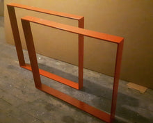 Red Steel Table Legs