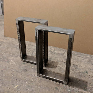 Raw Steel Bench Legs