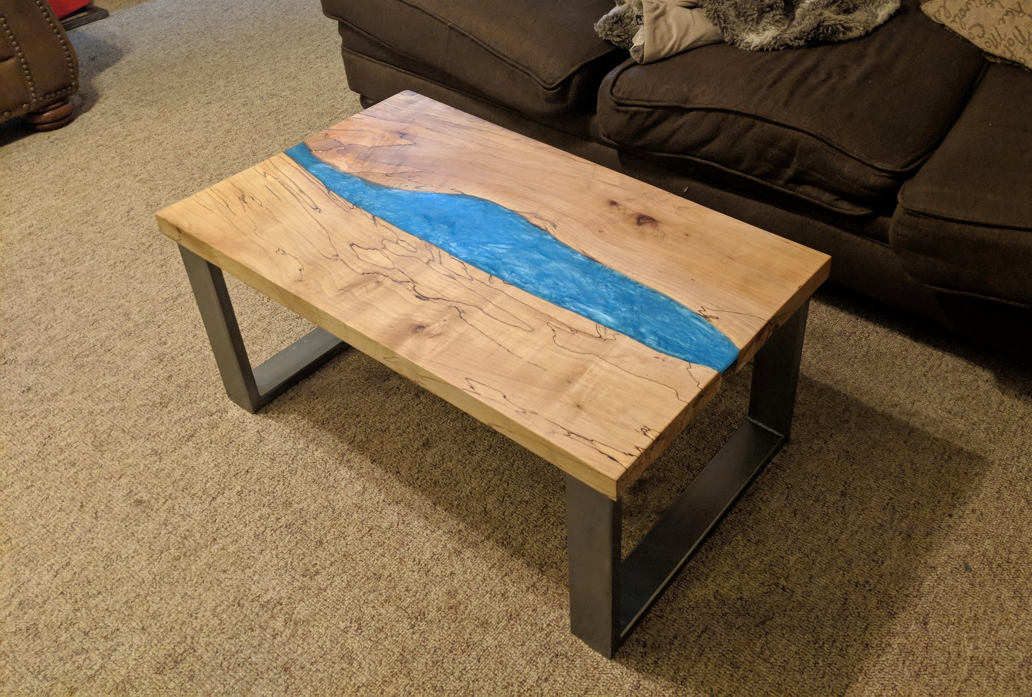 Epoxy River Table Live Edge Resin Table River Coffee