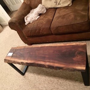 Live Edge Walnut Bench